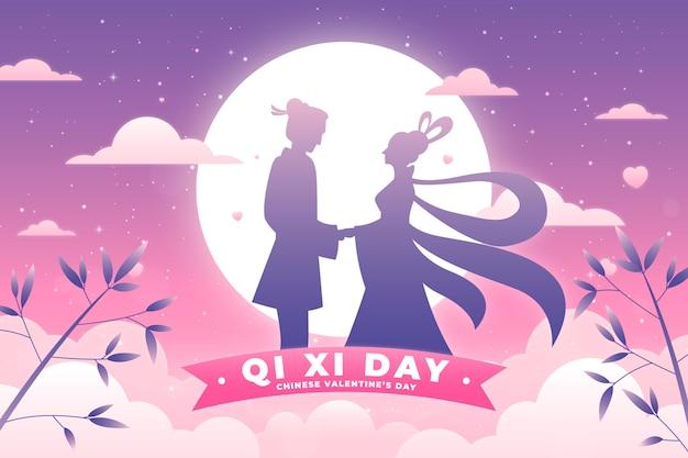 Ilustração do gradiente qi xi day