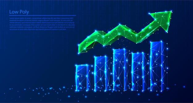 Ilustração do gráfico de crescimento poligonal