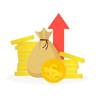 Ilustração do gráfico de investimento
