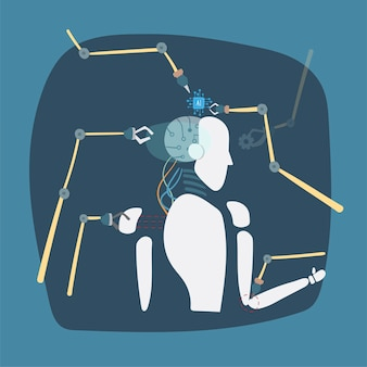 Ilustração do gráfico de vetor de robô
