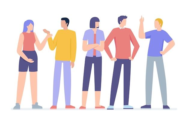 Ilustração do grupo de pessoas