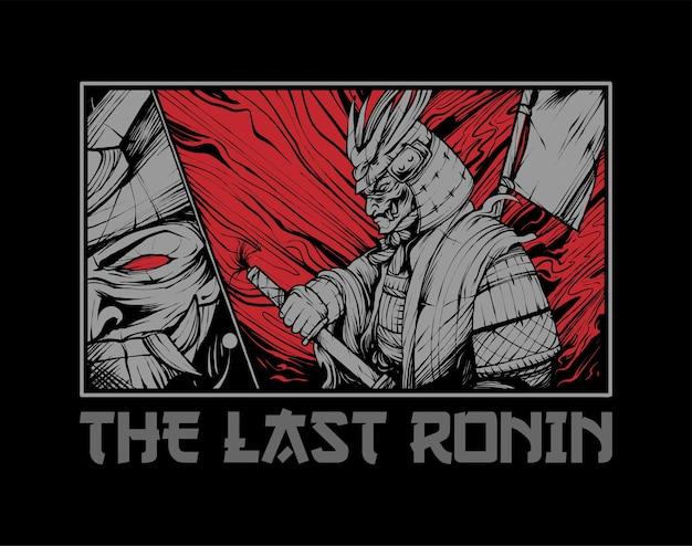 Ilustração do guerreiro samurai. perfeito para produtos de camisetas