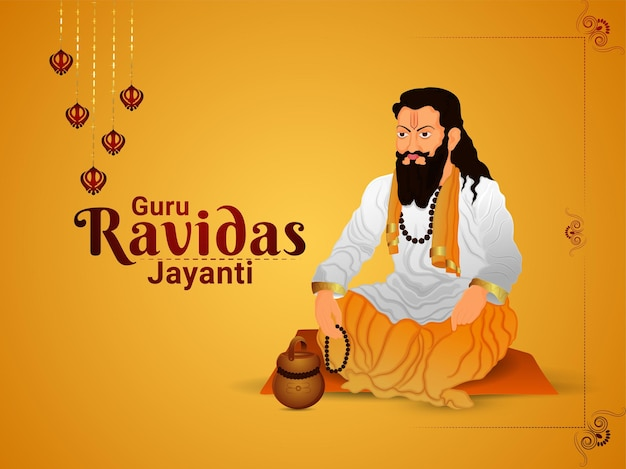 Ilustração do guru ravidas jayanti