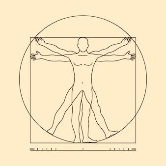 Ilustração do homem vitruviano