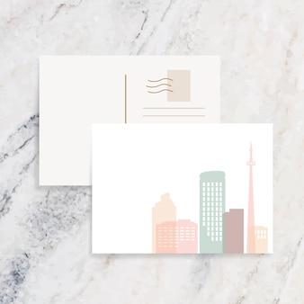 Ilustração do horizonte de silhueta