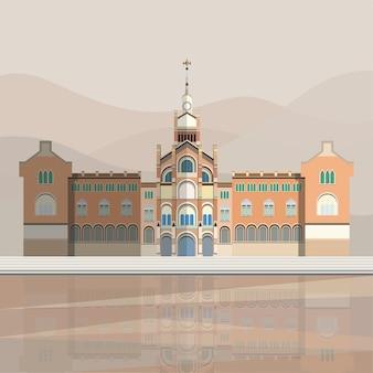 Ilustração do hospital de sant pau
