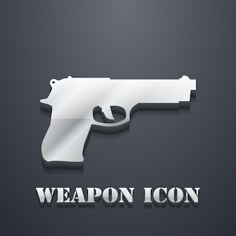 Ilustração do ícone da arma. imagem criativa e 3d