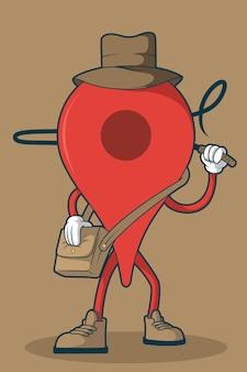 Ilustração do ícone de aventura.