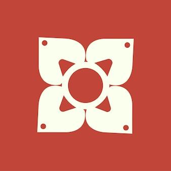 Ilustração do ícone de branding de flor