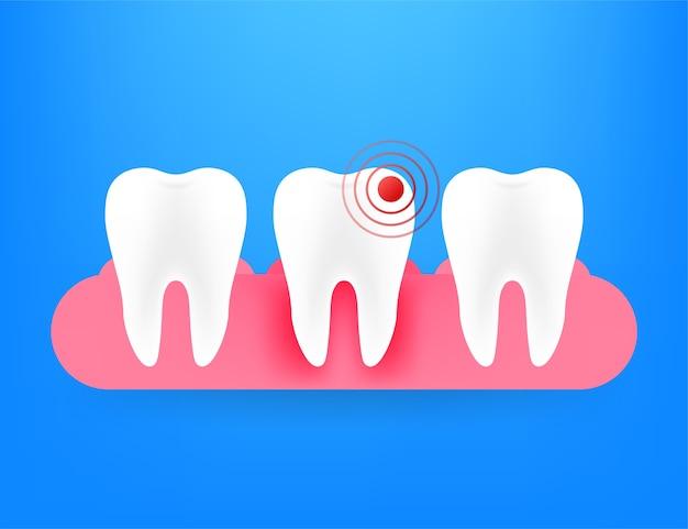 Ilustração do ícone de dor de dente