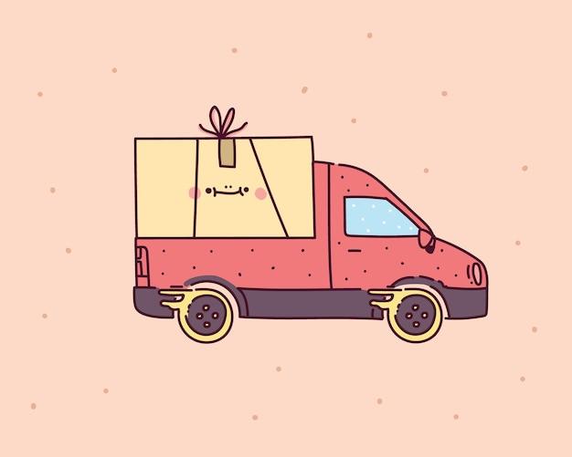 Ilustração do ícone de entrega. serviço de entrega online