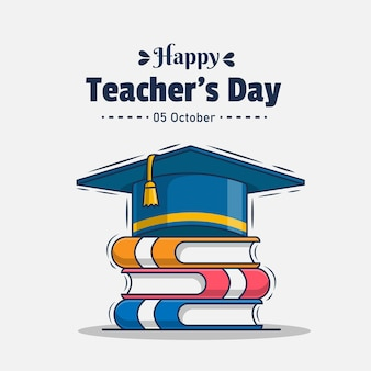 Ilustração do ícone de saudação para o dia do professor feliz
