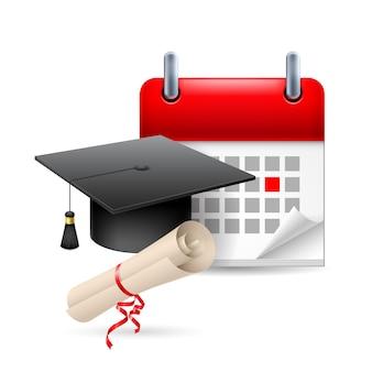 Ilustração do ícone de tempo de educação