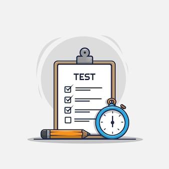 Ilustração do ícone de teste