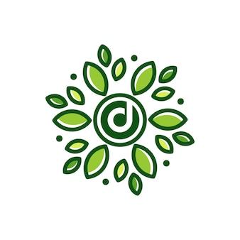 Ilustração do ícone do design do logotipo da folha da letra d letra