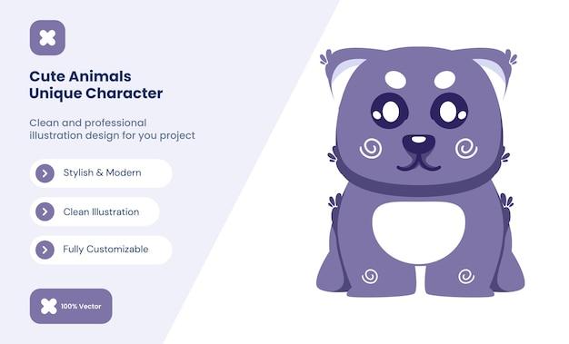 Ilustração do ícone do gato bonito. conceito de ícone de amor animal