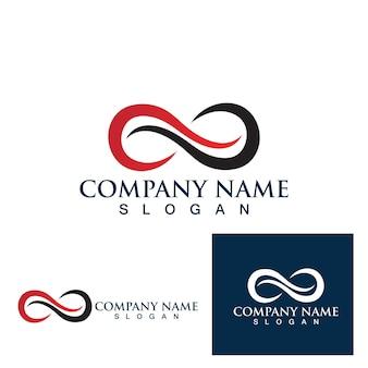 Ilustração do ícone do infinity design vector design do modelo de logotipo