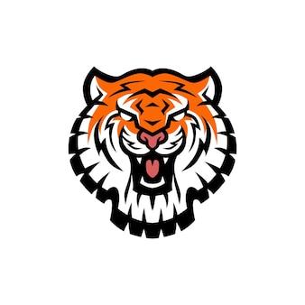 Ilustração do ícone do logotipo da cabeça do tigre