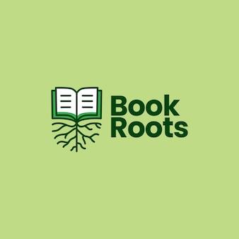 Ilustração do ícone do logotipo da raiz do livro
