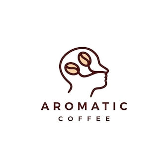 Ilustração do ícone do logotipo do café aromático