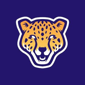 Ilustração do ícone do logotipo do esporte e cabeça de chita