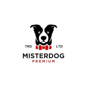 Ilustração do ícone do logotipo do mestre do cachorro