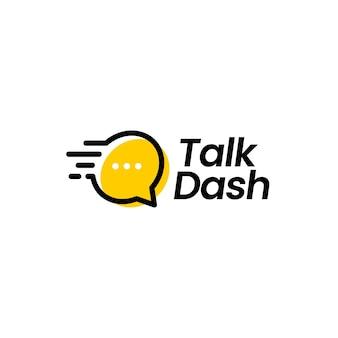 Ilustração do ícone do logotipo do vetor talk dash