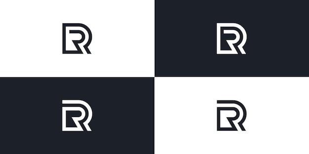 Ilustração do ícone do logotipo inicial do vetor da letra rr