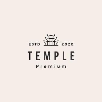 Ilustração do ícone do logotipo vintage do templo