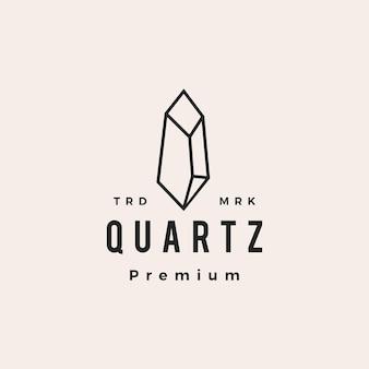 Ilustração do ícone do logotipo vintage moderno em pedra de quartzo