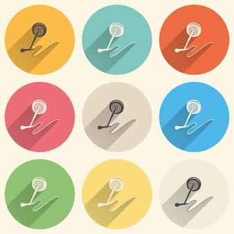 Ilustração do ícone do microfone de áudio, padrão de música. capa criativa e luxuosa