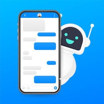 Ilustração do ícone do robô