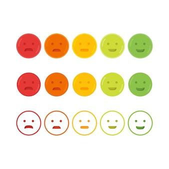 Ilustração do ícone do sorriso emoji do feedback emoticon.