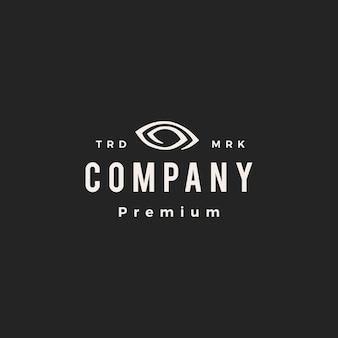 Ilustração do ícone do vetor do logotipo do vintage da visão visual do olho
