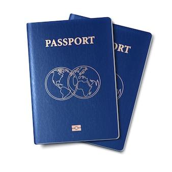 Ilustração do ícone do vetor do passaporte Vetor Premium