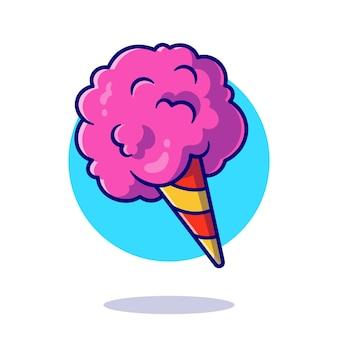 Ilustração do ícone dos desenhos animados do algodão doce.