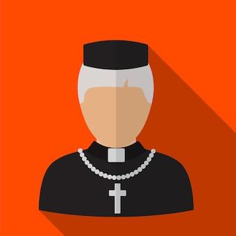 Ilustração do ícone plana do padre símbolo de sinal de vetor isolado