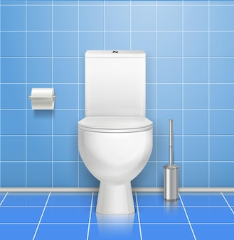 Ilustração do interior do banheiro público