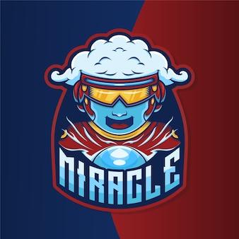 Ilustração do jogo do logotipo do mascote