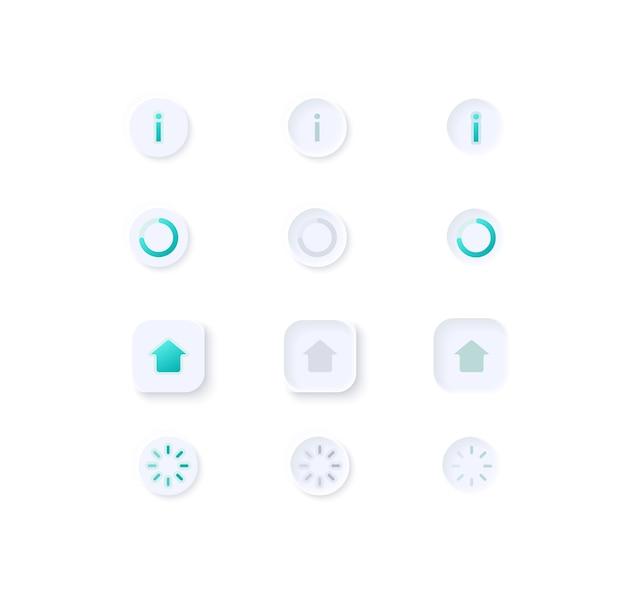 Ilustração do kit de elementos de interface do usuário do perfil