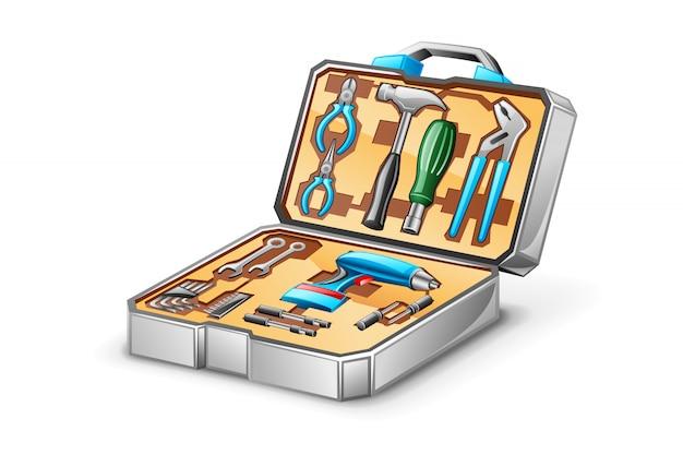 Ilustração do kit de ferramentas