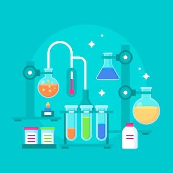 Ilustração do laboratório de ciências