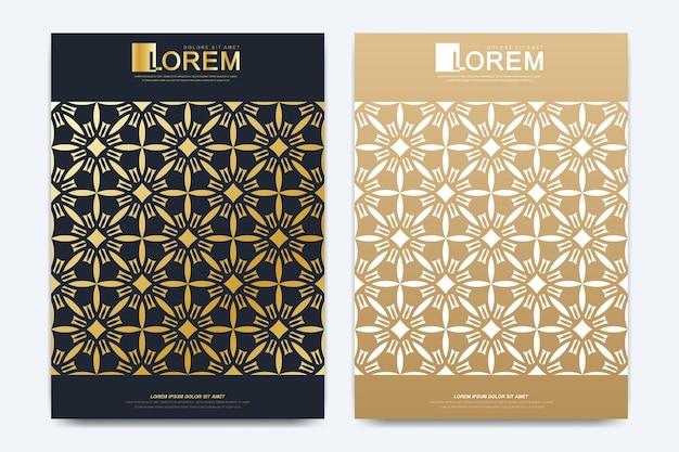 Ilustração do layout do livro de design islâmico