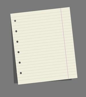 Ilustração do livro de exercícios para anotações