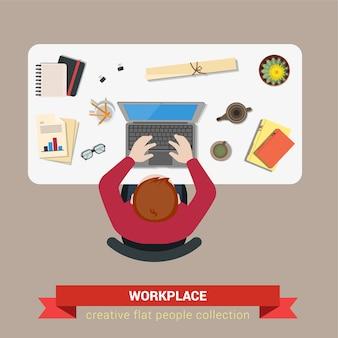 Ilustração do local de trabalho