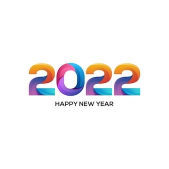 Ilustração do logotipo 2022 gradiente colorido