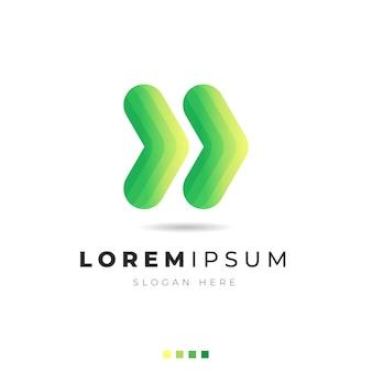 Ilustração do logotipo abstrato gradiente