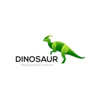 Ilustração do logotipo colorido de dinossauro