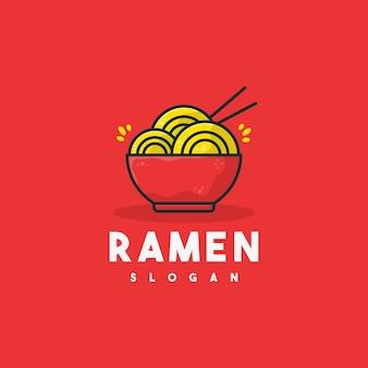 Ilustração do logotipo criativo de ramen