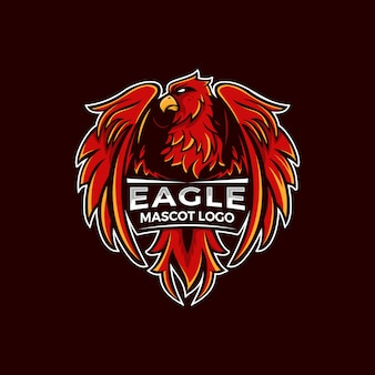 Ilustração do logotipo da águia mascot